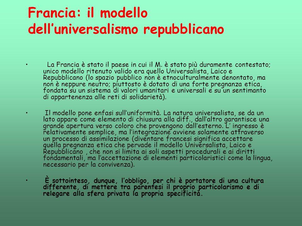 Francia: il modello dell'universalismo repubblicano