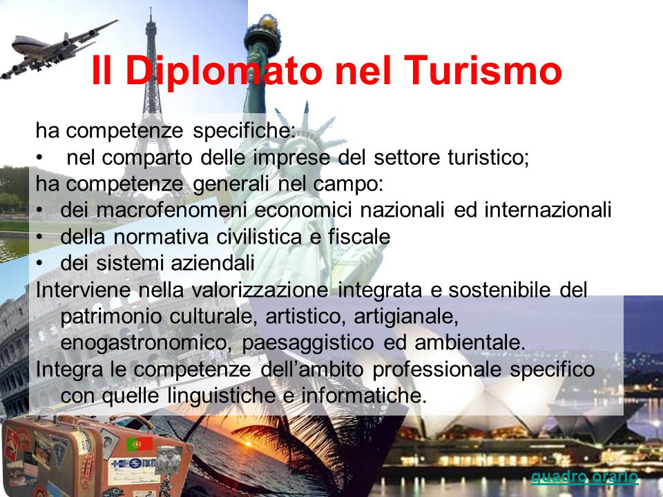 Il Diplomato nel Turismo