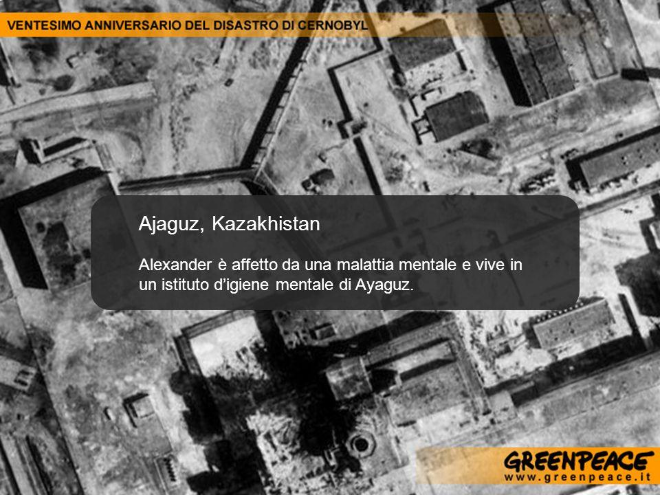 Ajaguz, Kazakhistan Alexander è affetto da una malattia mentale e vive in un istituto d'igiene mentale di Ayaguz.