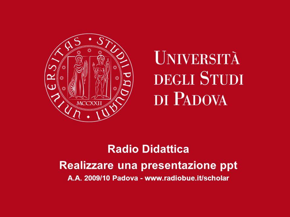 Radio Didattica Realizzare una presentazione ppt
