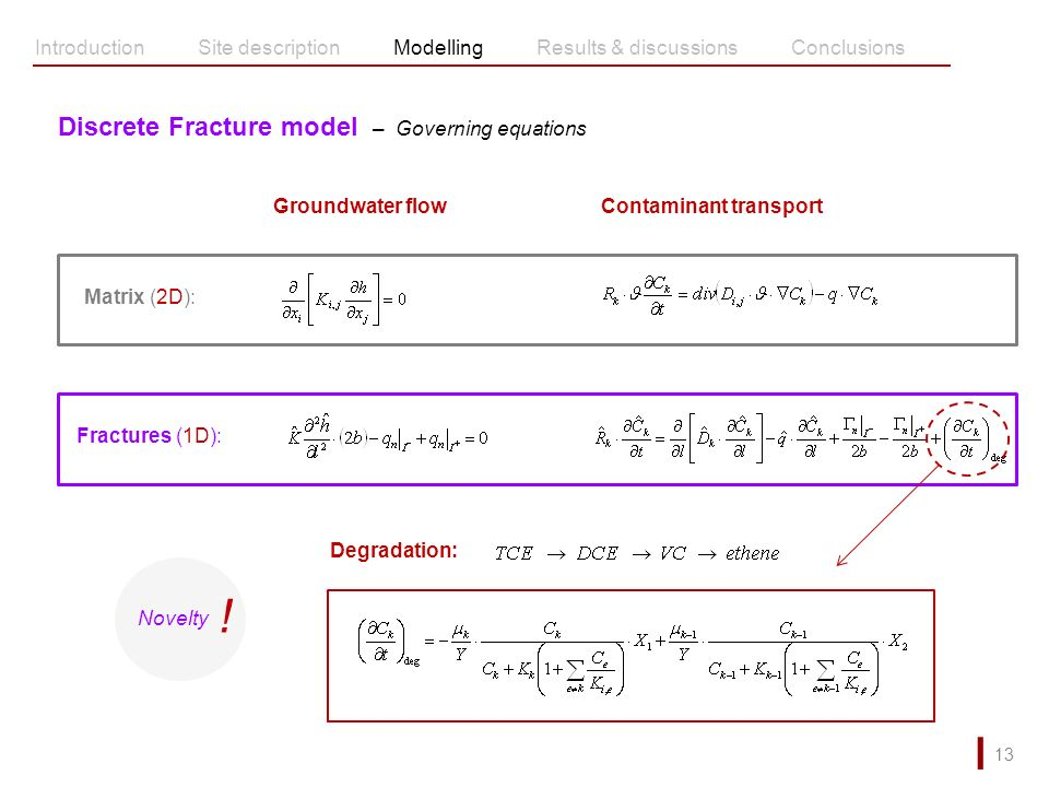 ! Discrete Fracture model – Governing equations