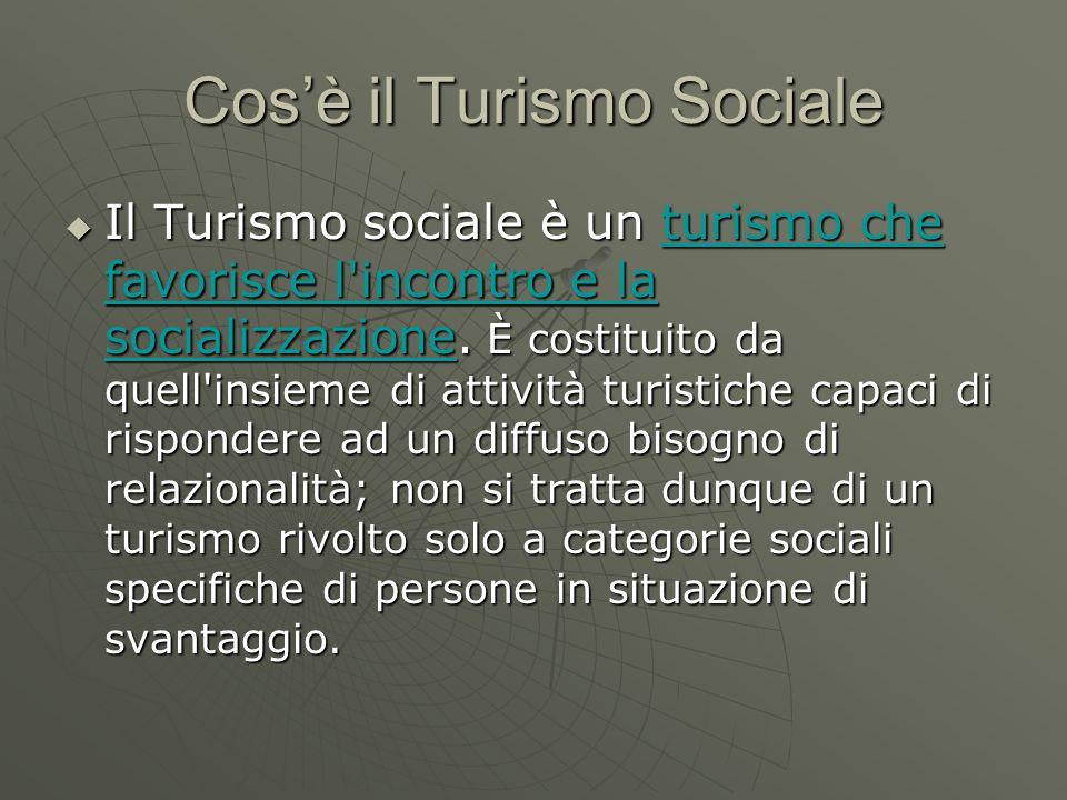Cos'è il Turismo Sociale