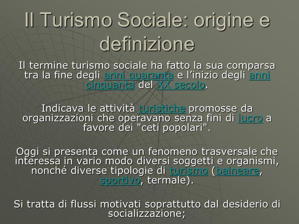 Il Turismo Sociale: origine e definizione