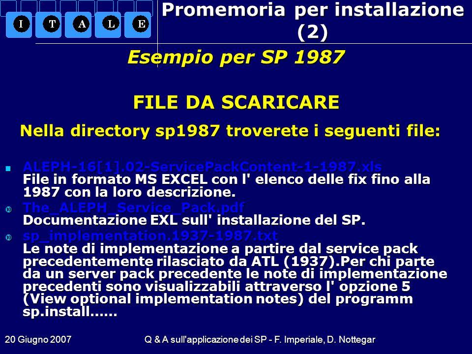 Promemoria per installazione (2)