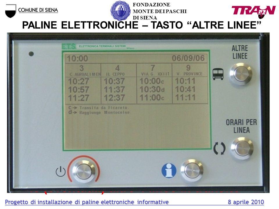 PALINE ELETTRONICHE – TASTO ALTRE LINEE