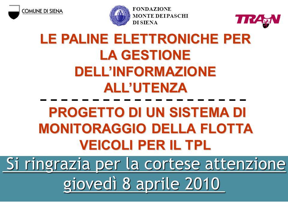 LE PALINE ELETTRONICHE PER LA GESTIONE DELL'INFORMAZIONE ALL'UTENZA
