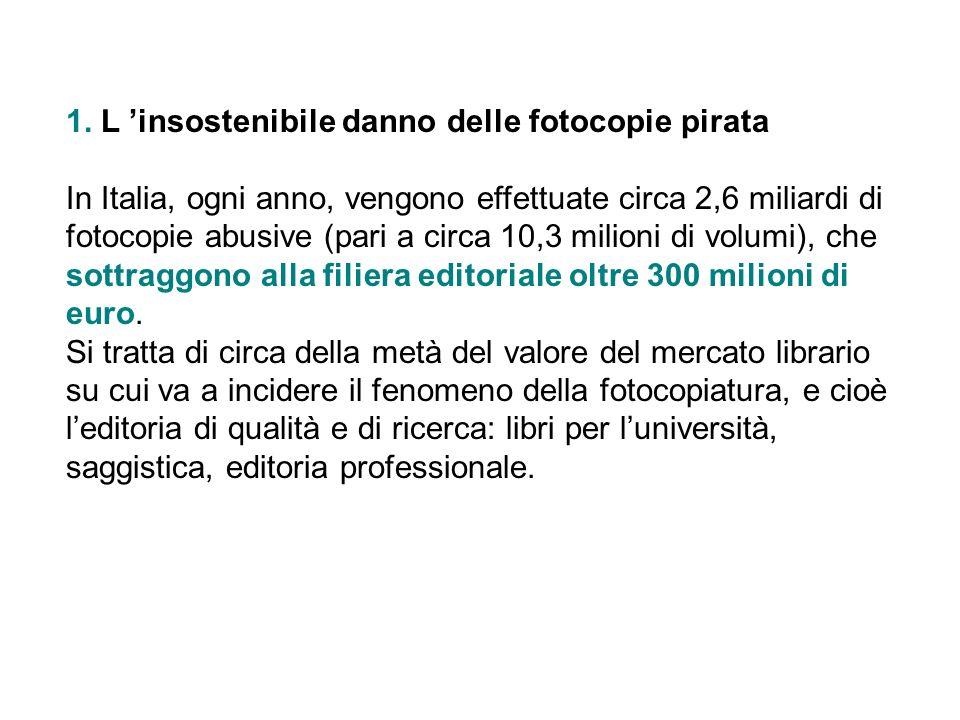 1. L 'insostenibile danno delle fotocopie pirata