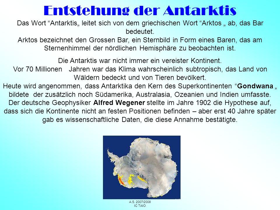 Entstehung der Antarktis