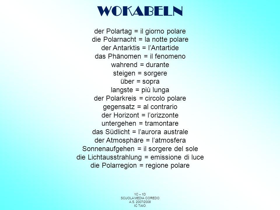 WOKABELN der Polartag = il giorno polare