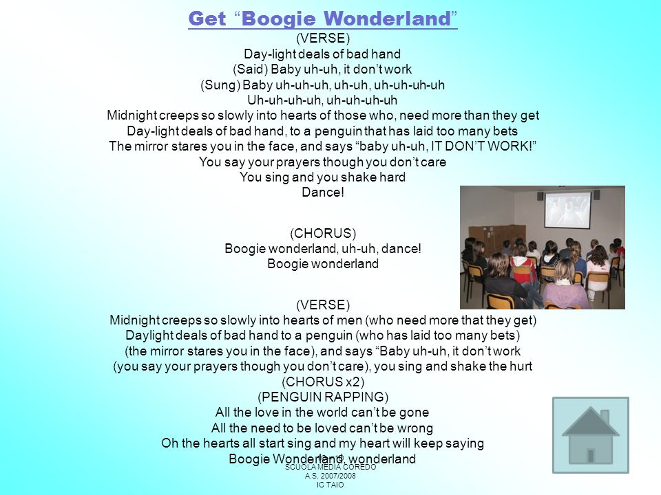 Get Boogie Wonderland
