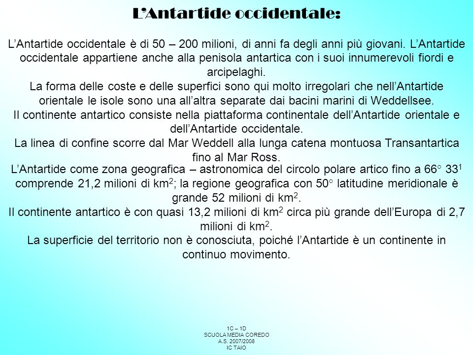 L'Antartide occidentale: