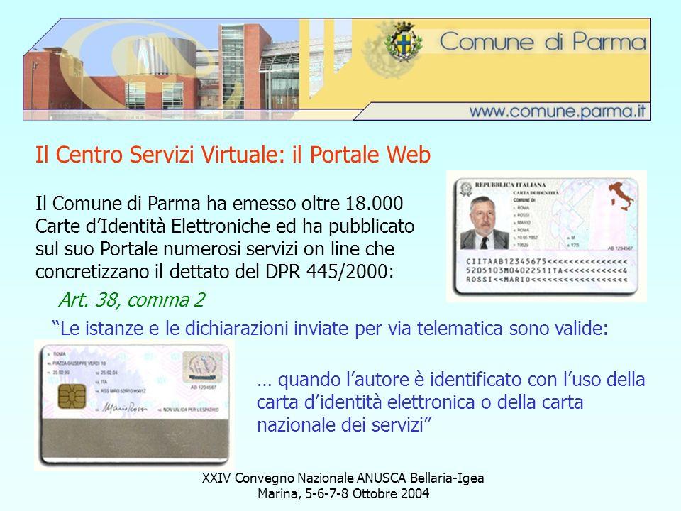 Il Centro Servizi Virtuale: il Portale Web