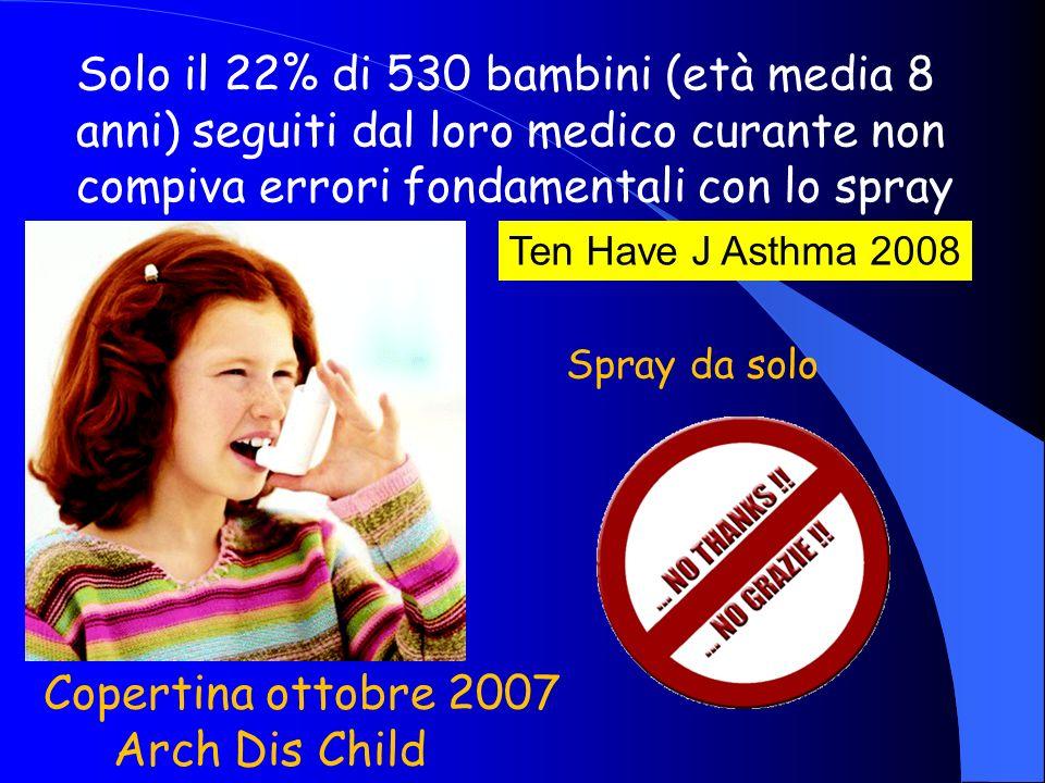 Solo il 22% di 530 bambini (età media 8 anni) seguiti dal loro medico curante non compiva errori fondamentali con lo spray