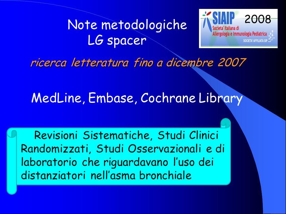 ricerca letteratura fino a dicembre 2007
