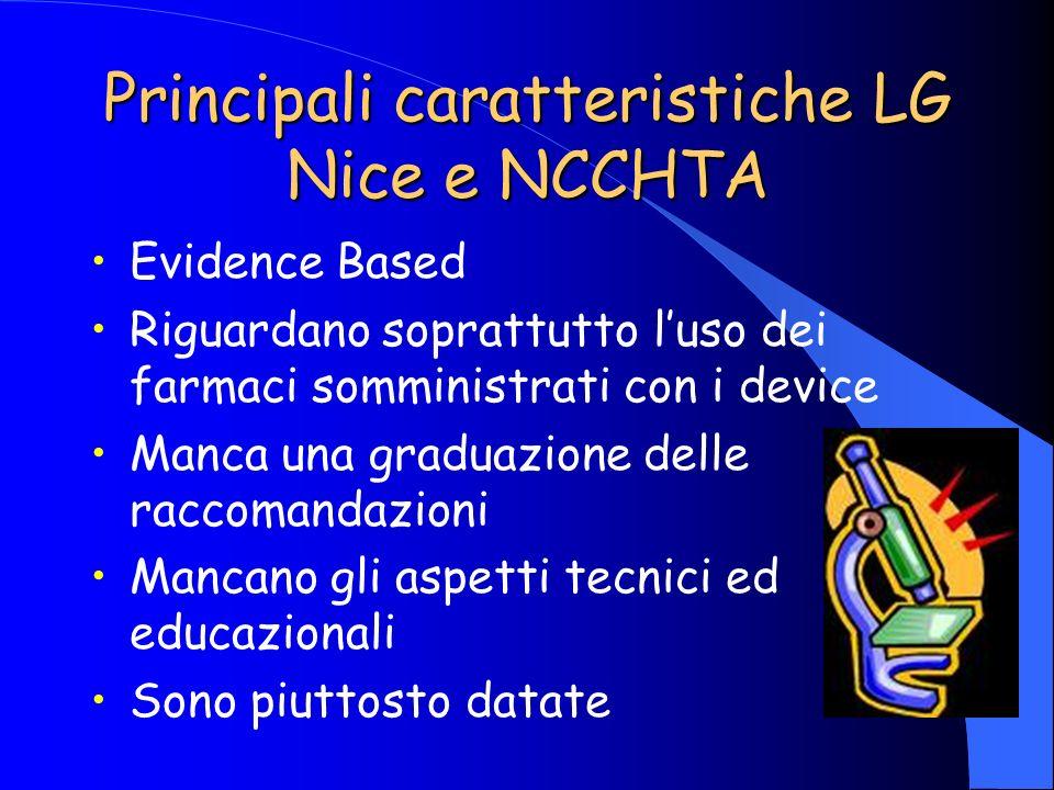 Principali caratteristiche LG Nice e NCCHTA
