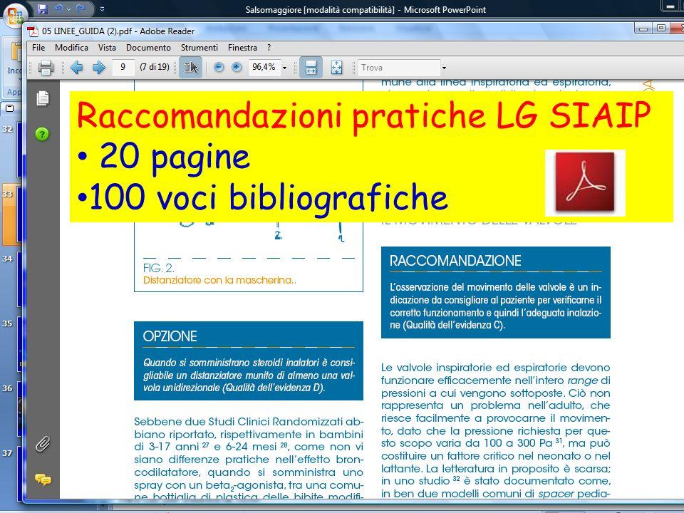 Raccomandazioni pratiche LG SIAIP