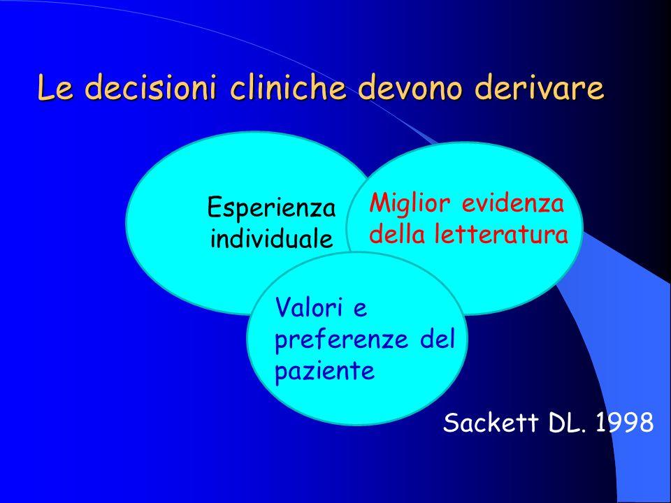 Le decisioni cliniche devono derivare