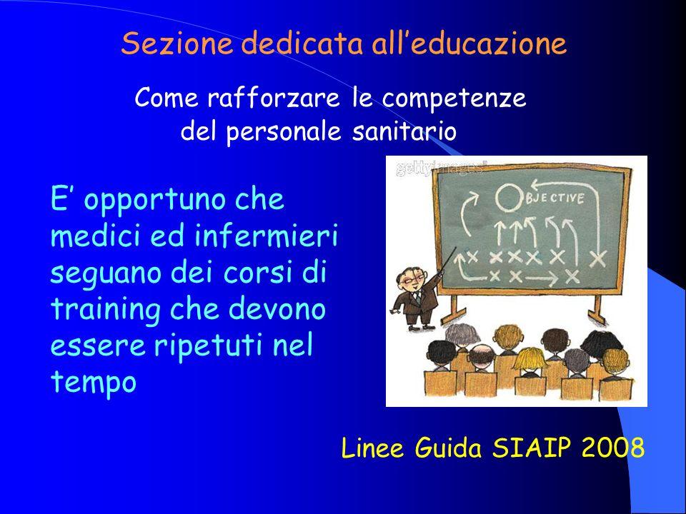Sezione dedicata all'educazione
