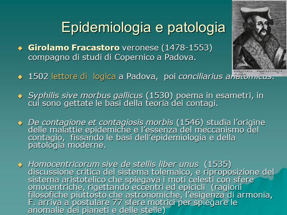 Epidemiologia e patologia
