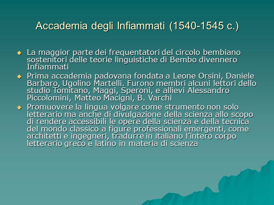 Accademia degli Infiammati (1540-1545 c.)