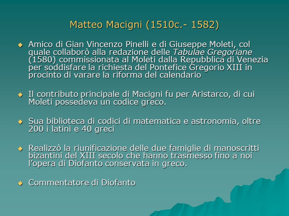 Matteo Macigni (1510c.- 1582)