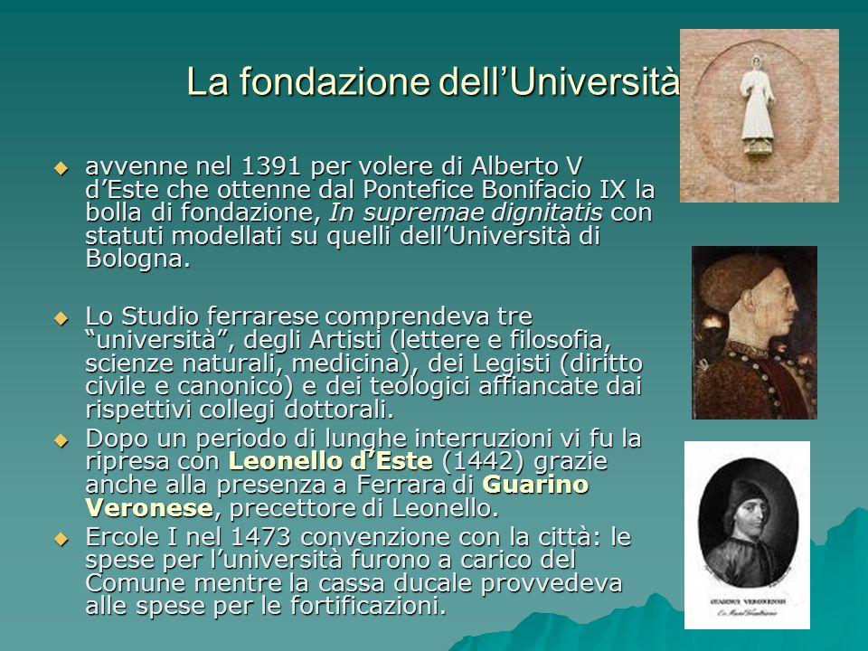 La fondazione dell'Università