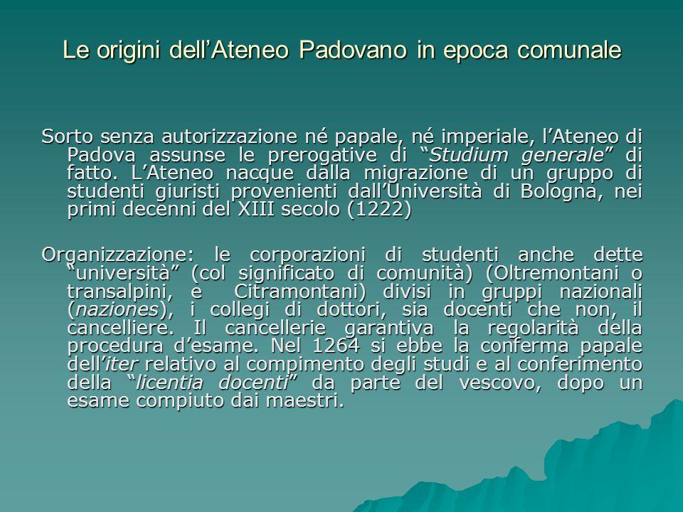Le origini dell'Ateneo Padovano in epoca comunale