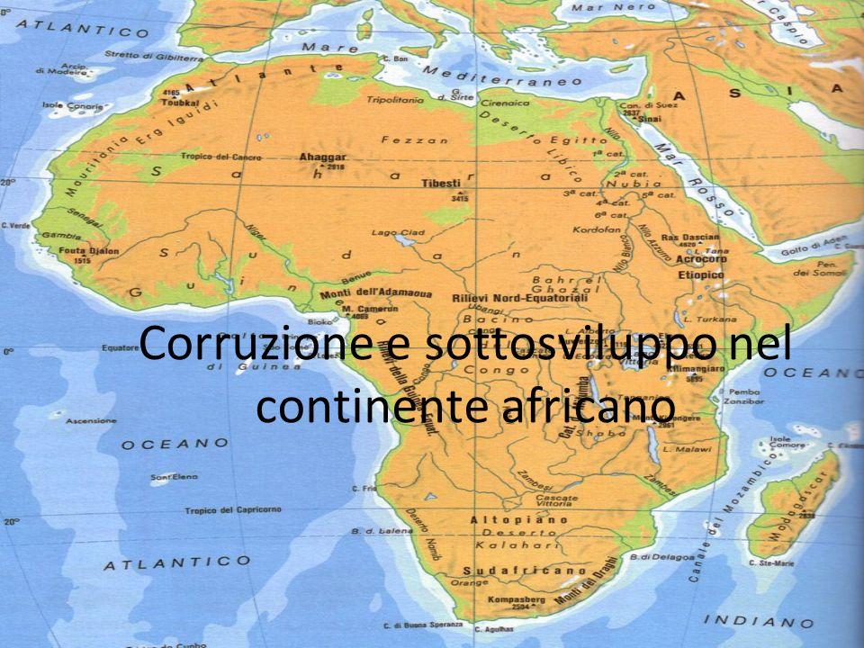 Corruzione e sottosviluppo nel continente africano