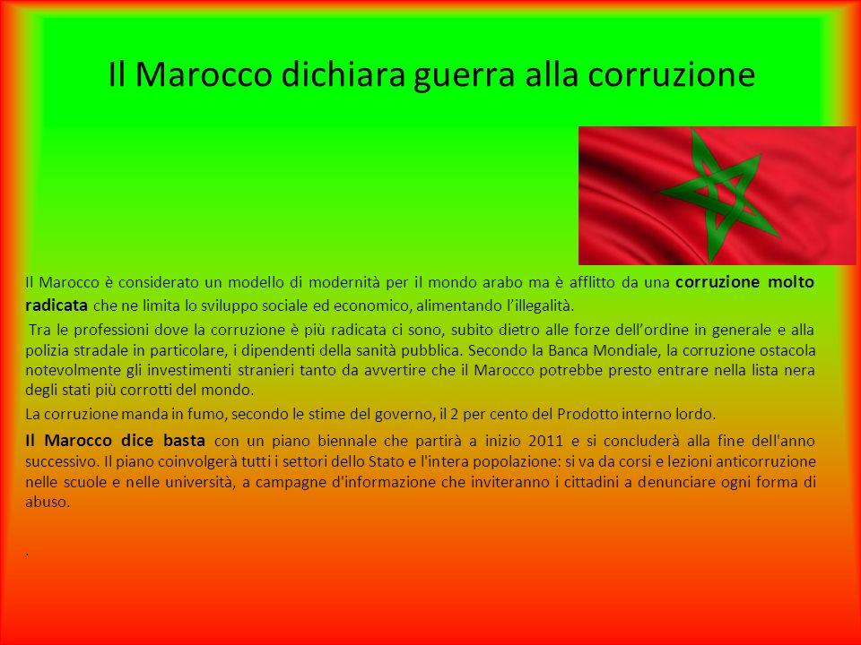 Il Marocco dichiara guerra alla corruzione