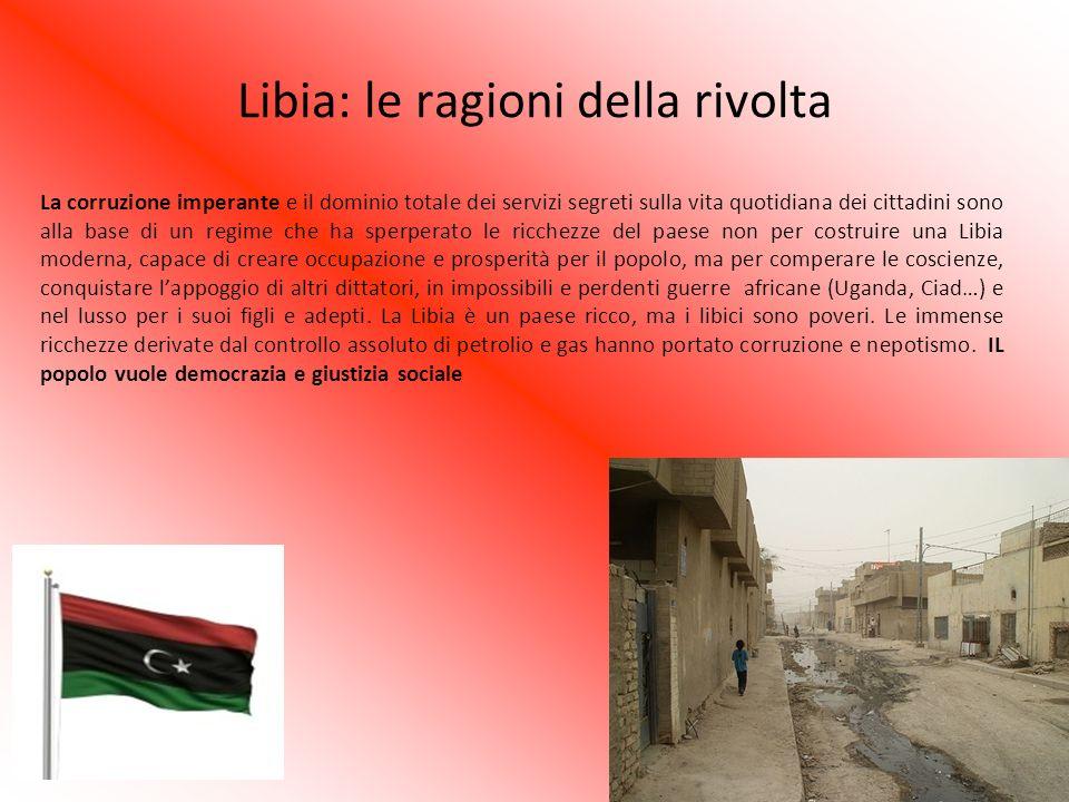 Libia: le ragioni della rivolta