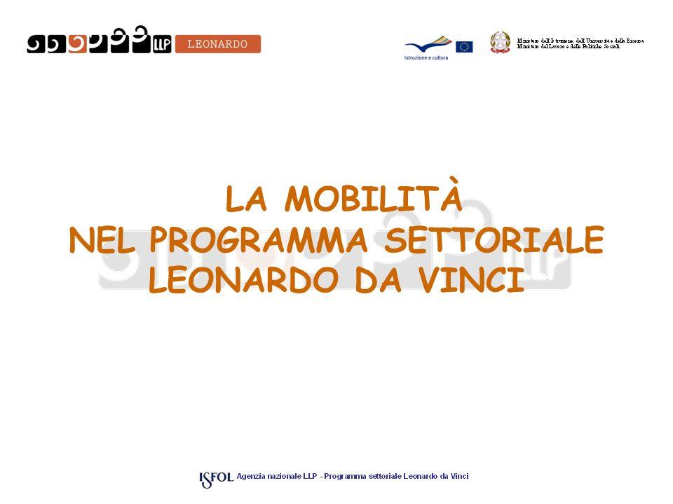 LA MOBILITÀ NEL PROGRAMMA SETTORIALE LEONARDO DA VINCI