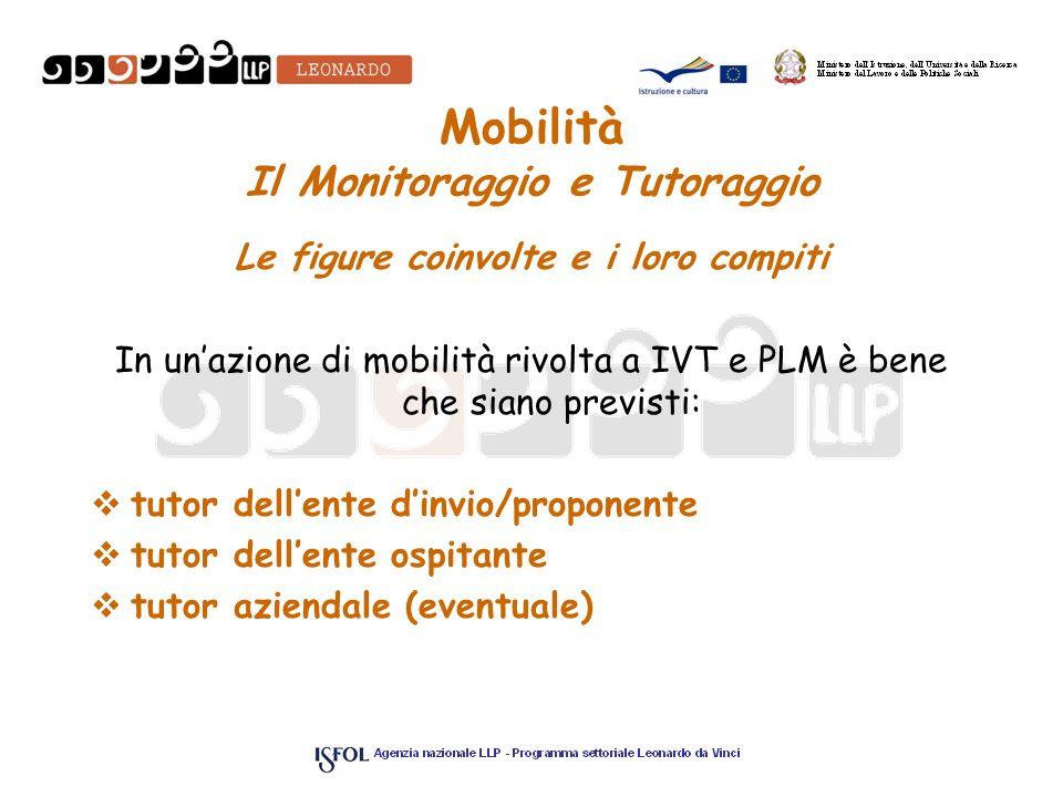 Mobilità Il Monitoraggio e Tutoraggio