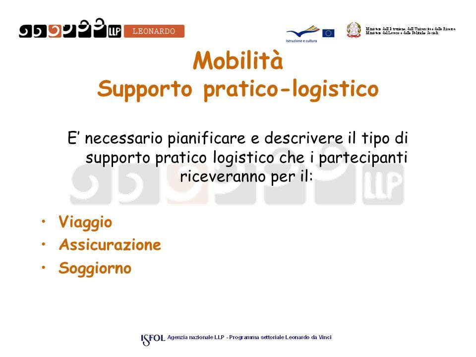 Mobilità Supporto pratico-logistico