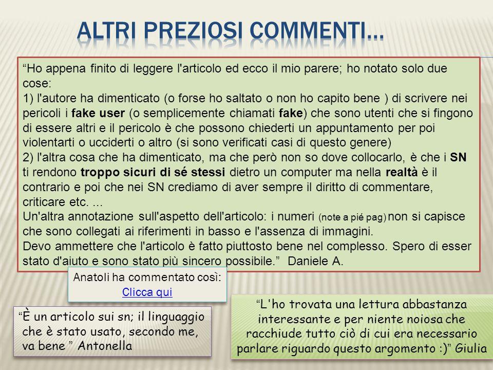 Anatoli ha commentato così: