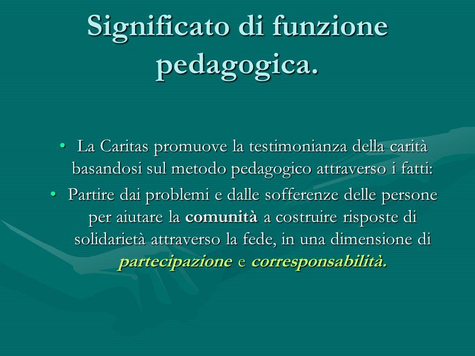 Significato di funzione pedagogica.