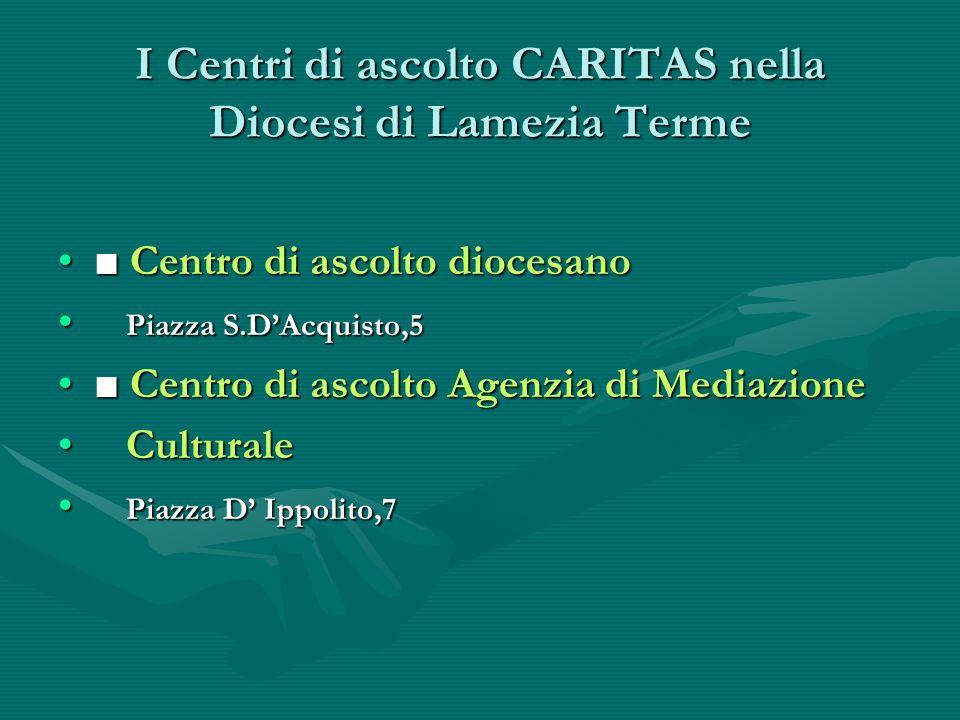 I Centri di ascolto CARITAS nella Diocesi di Lamezia Terme