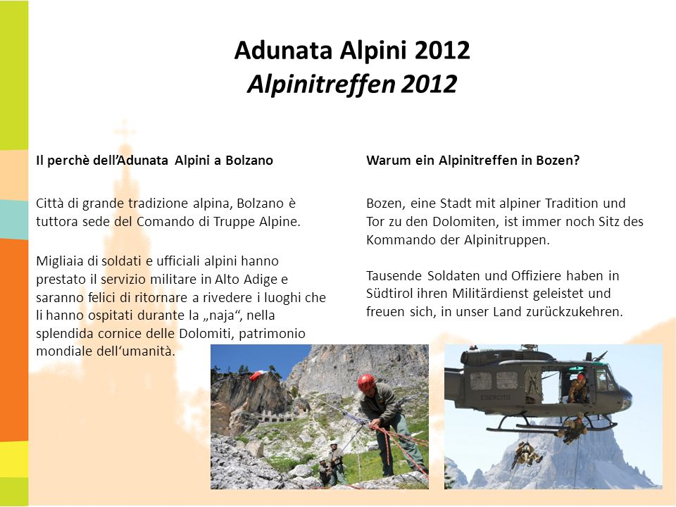 Adunata Alpini 2012 Alpinitreffen 2012