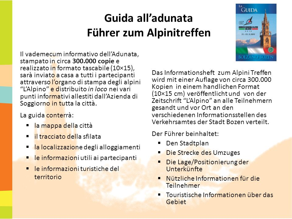 Guida all'adunata Führer zum Alpinitreffen