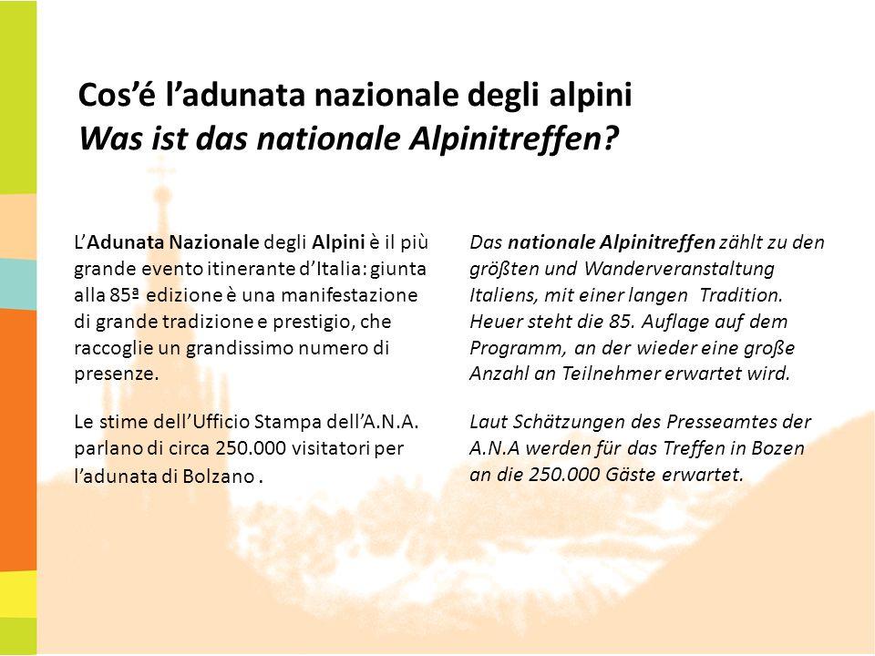 Cos'é l'adunata nazionale degli alpini Was ist das nationale Alpinitreffen