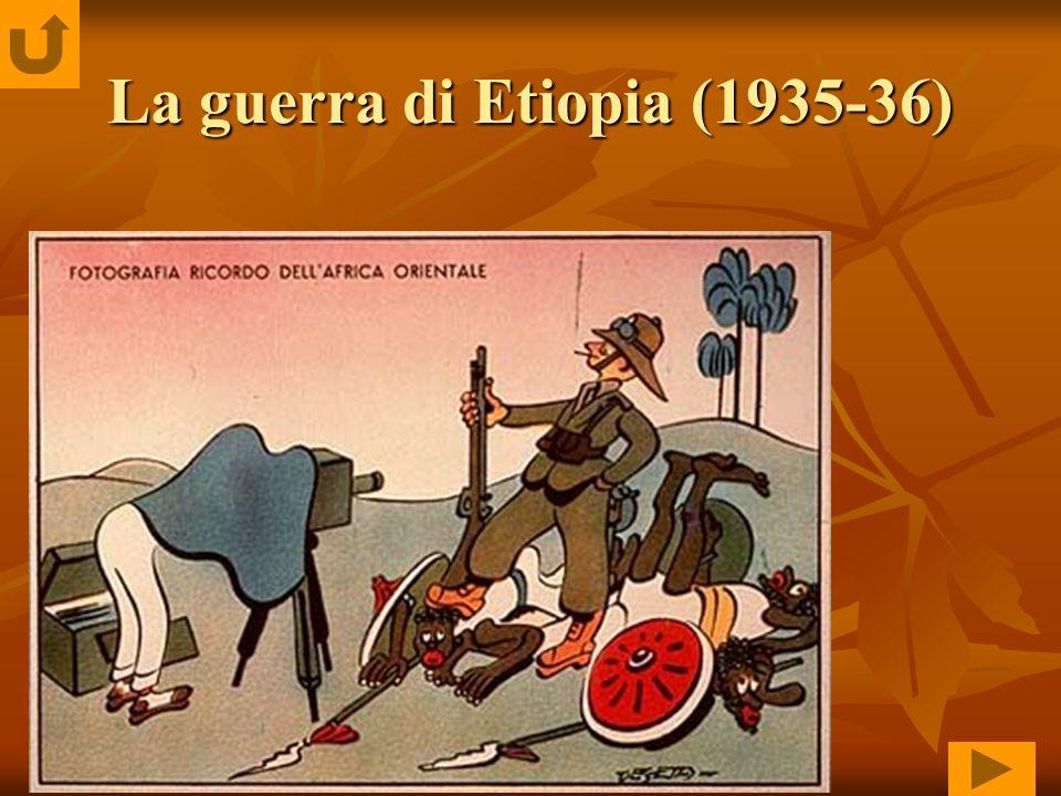 La guerra di Etiopia (1935-36)