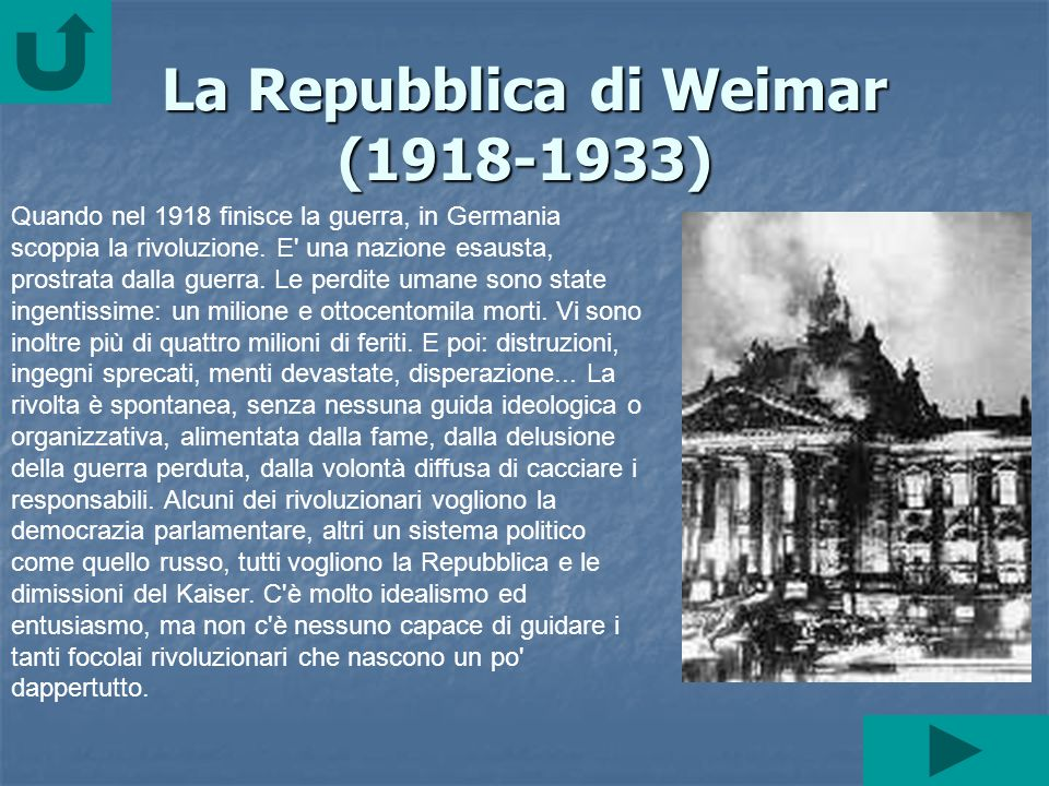 La Repubblica di Weimar (1918-1933)