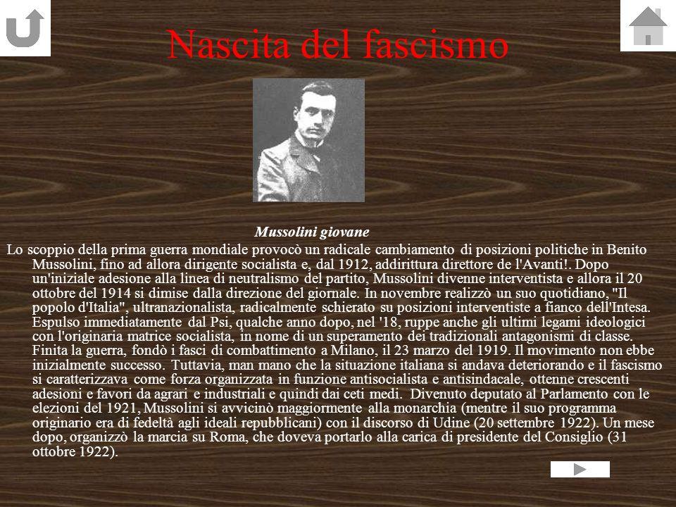 Nascita del fascismo Mussolini giovane