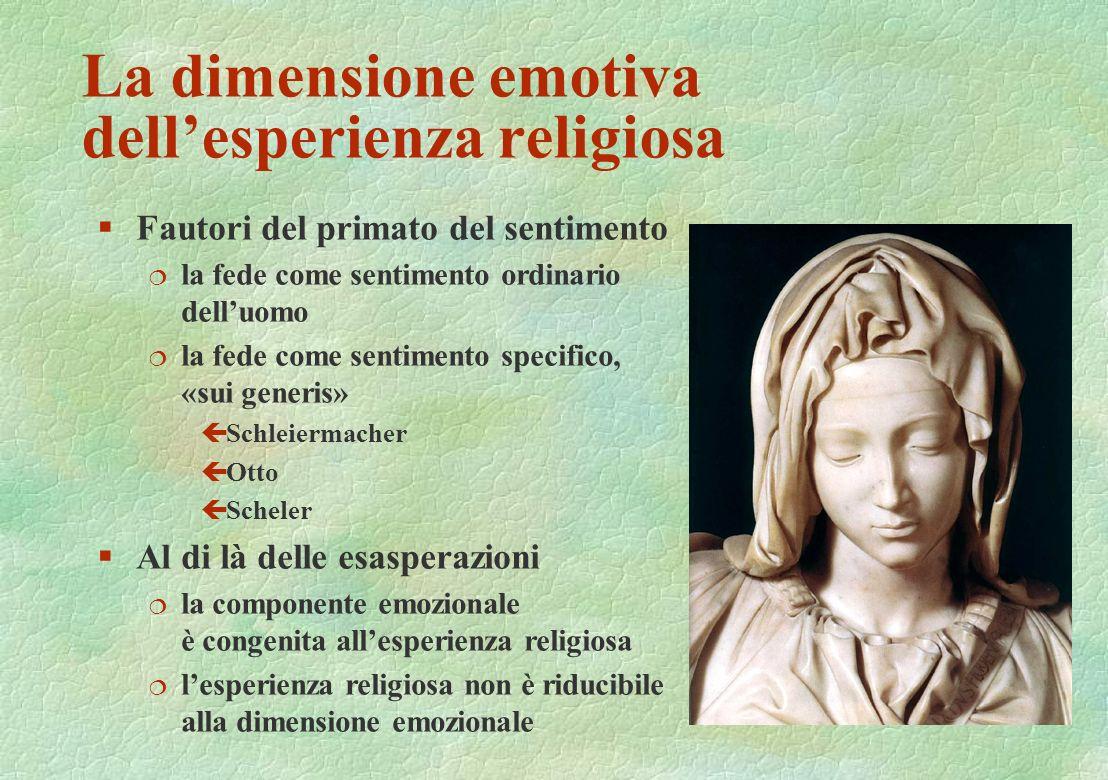 La dimensione emotiva dell'esperienza religiosa