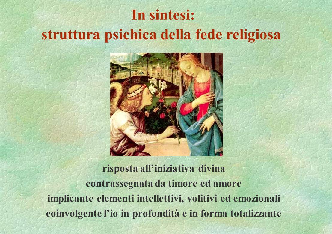 In sintesi: struttura psichica della fede religiosa