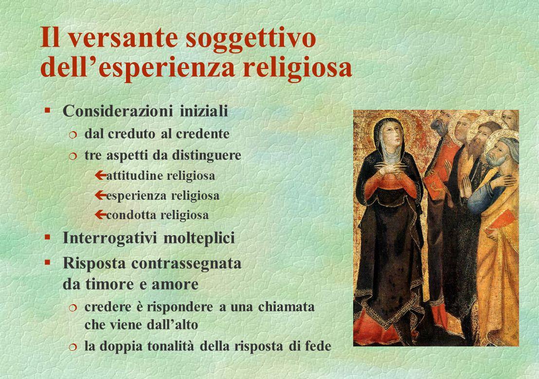 Il versante soggettivo dell'esperienza religiosa