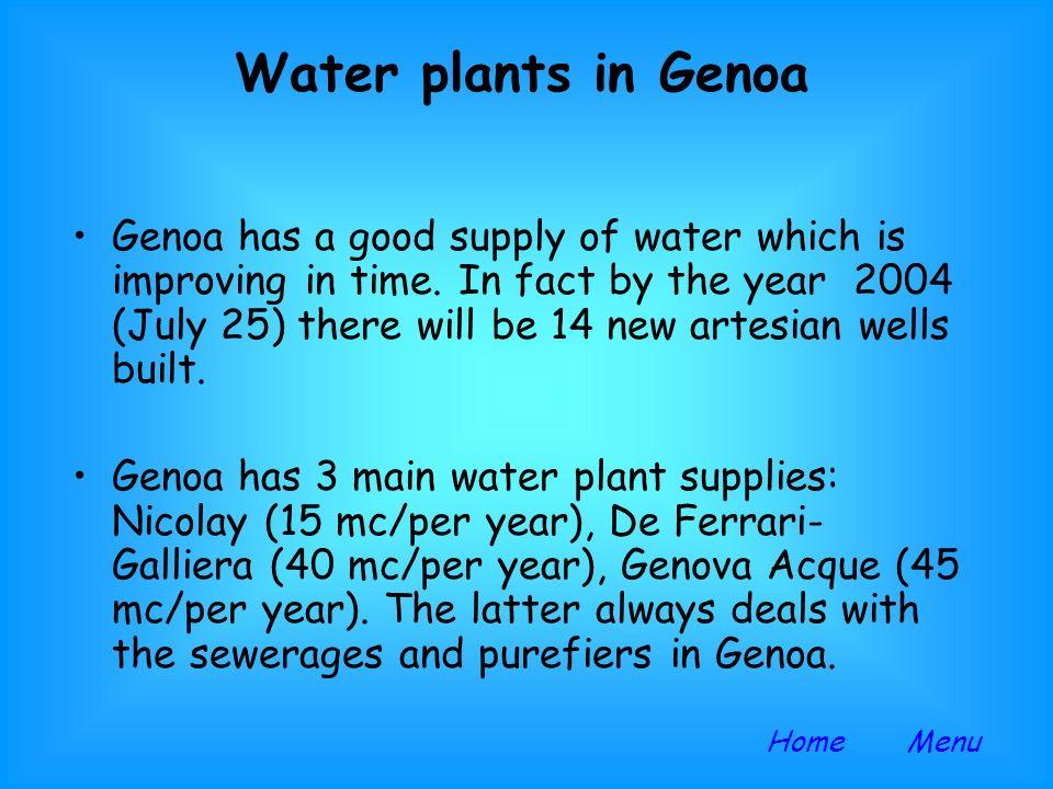 Water plants in Genoa