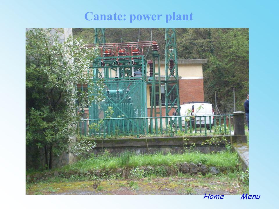 Canate: power plant Home Menu