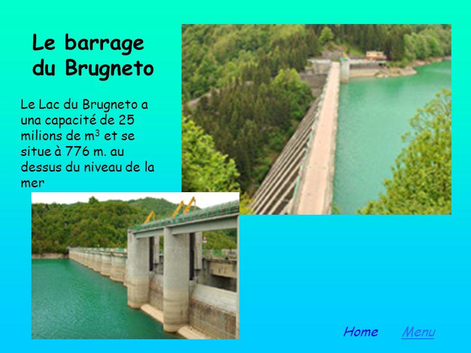 Le barrage du Brugneto Le Lac du Brugneto a una capacité de 25 milions de m3 et se situe à 776 m. au dessus du niveau de la mer.
