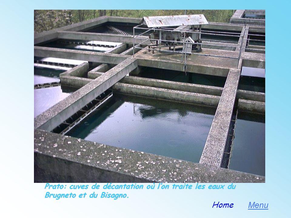 Prato: cuves de décantation où l'on traite les eaux du Brugneto et du Bisagno.