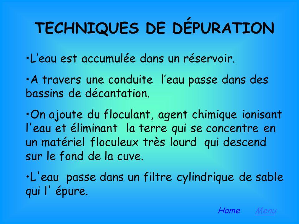TECHNIQUES DE DÉPURATION
